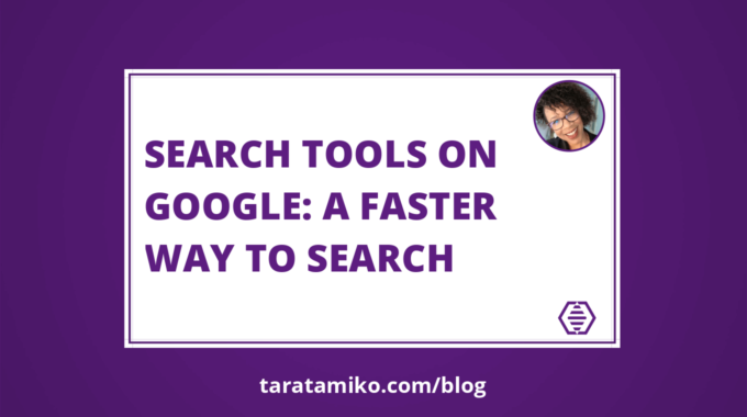 Blog Header Search tools on Google A faster way to search