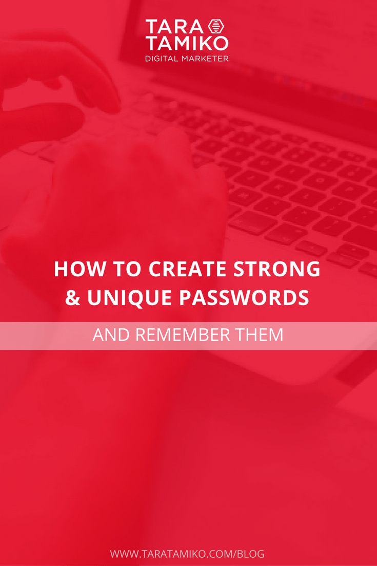5 Steps to making passwords strong and memorable