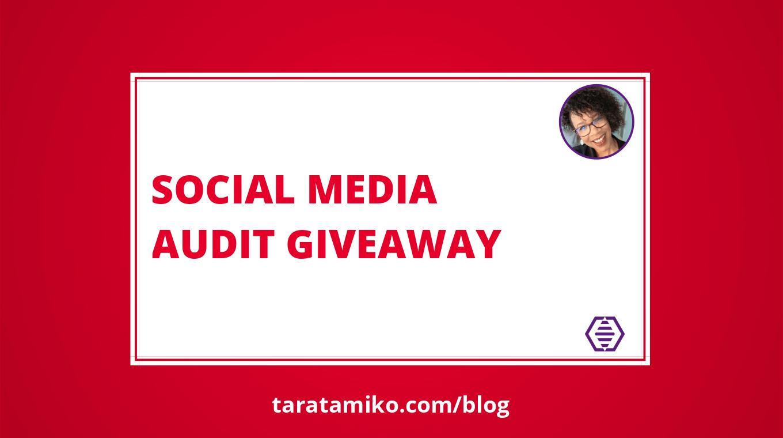 Blog Header Social media audit giveaway