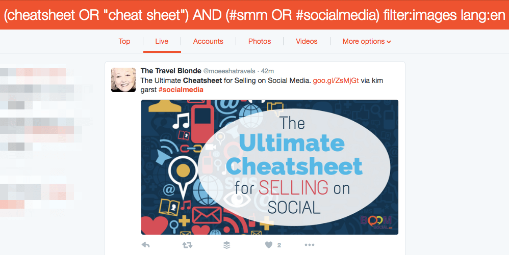 Twitter Cheat Sheet Image Search