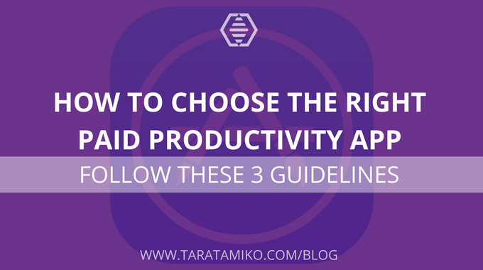 How to choose the right paid productivity app