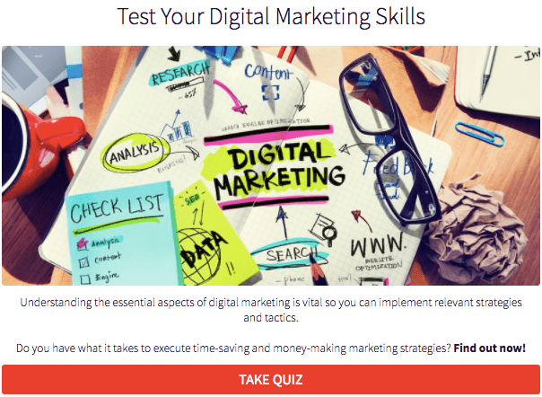 image of quiz digital marketing